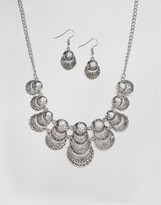 Ruby Rocks Necklace And Earring Set