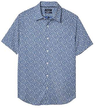 Nautica Wrinkle Resistant Floral Print Shirt (Blue) Men's Clothing