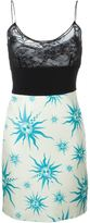 Fausto Puglisi floral lace panel cami dress