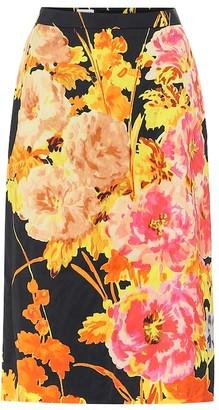 Dries Van Noten Floral brocade pencil skirt