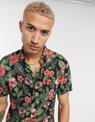 HUGO BOSS Ekiko relaxed fit short sleeve shirt in floral print