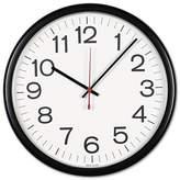 """Universal 131⁄2"""" Indoor/Outdoor Clock White/Black"""