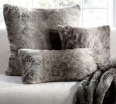 Pottery Barn Faux Fur Pillow Cover - Gray Ombre