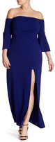 ABS by Allen Schwartz Off-The-Shoulder Bell Sleeve Gown (Plus Size)