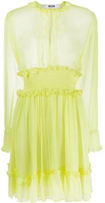 MSGM Sheer Ruffle Dress