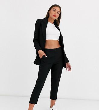Asos DESIGN Petite pop slim suit pants in black
