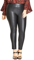 City Chic Plus Size Women's Asha Wet Look Leggings