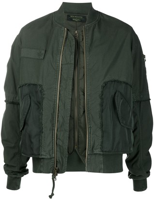 Mr & Mrs Italy x Nick Wooster layered bomber jacket