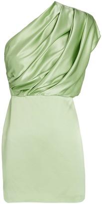 Mason by Michelle Mason Silk One-Shoulder Mini Dress