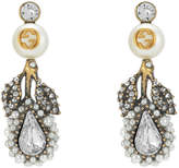 Gucci Drop flower earrings with crystals