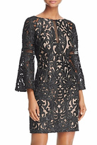 Aidan Mattox Bell Sleeve Lace Dress