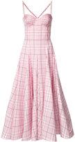 Natasha Zinko Poplin Pearl Trim Corset Dress