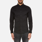 Michael Kors Men's Slim Long Sleeve Shirt Black
