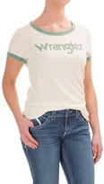 Wrangler Logo Ringer T-Shirt - Cotton Blend, Short Sleeve (For Women)