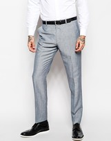 Asos Slim Fit Suit Trousers In Linen