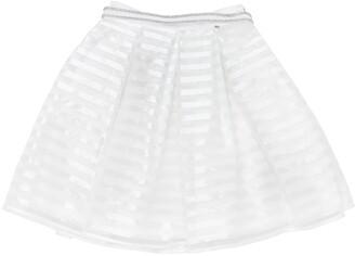 MISS GRANT Cotton Organza & Satin Skirt