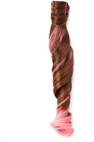 Hairdo. by Jessica Simpson & Ken Paves Chocolate Copper & Pink Wavy Ponytail Hair Extension