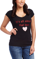 Black 'All About That Base' V-Neck Tee - Plus Too