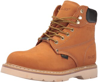 "AdTec Ad Tec 1982 6"" Steel Toe Tan Work Boot (Tan 9)"