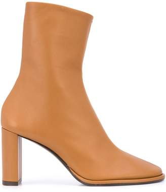 The Row block heel ankle boots