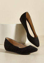 ModCloth Fierce Thing's First Wedge in Black in 6