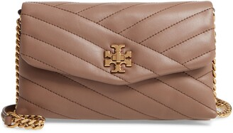 Tory Burch Kira Chevron Quilted Leather Wallet on a Chain