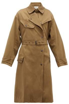 Etoile Isabel Marant Gabao Belted Cotton Trench Coat - Womens - Khaki