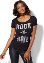 New York & Co. Rock-N-Roll Graphic Tee