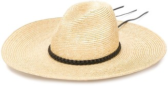 Saint Laurent Wide Brim Straw Sun Hat
