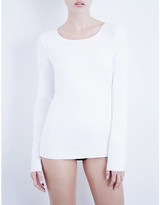 Wolford Ladies White Jersey Pullover Top, Size: L