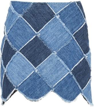 Miu Miu Patchwork Denim Skirt