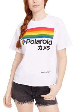 Mad Engine Juniors' Polaroid Logo Graphic T-Shirt