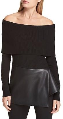 Donna Karan Off-The-Shoulder Tunic
