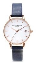 Olivia Burton 'The Dandy' 30mm leather strap watch
