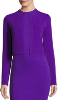 Ralph Lauren Ottoman-Knit Shrug Jacket, Purple