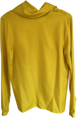 Hermes Yellow Silk Tops