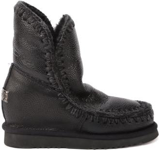 Mou Eskimo Ineer Wedge Boots In Sheepskin
