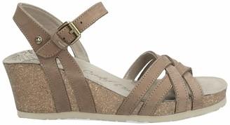 Panama Jack Vera Basics Womens Wedge Heels Sandals Brown (Taupe) 4 UK (37 EU)