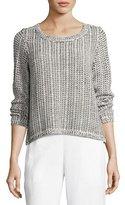 Eileen Fisher Crisp Organic Cotton/Linen Knit Box Top, Plus Size