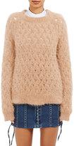 Balmain Women's Open-Worked Fuzzy Sweater-TAN