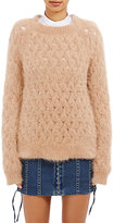 Balmain WOMEN'S OPEN-WORKED FUZZY SWEATER