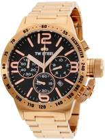 TW Steel Canteen CB173 Rose Gold Tone Stainless Steel Quartz 45mm Mens Watch
