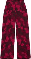 Valentino Guipure lace wide-leg pants