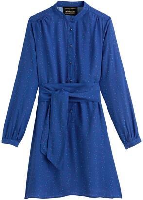 Vanessa Seward X La Redoute Collections Mini Shift Dress with Long Sleeves