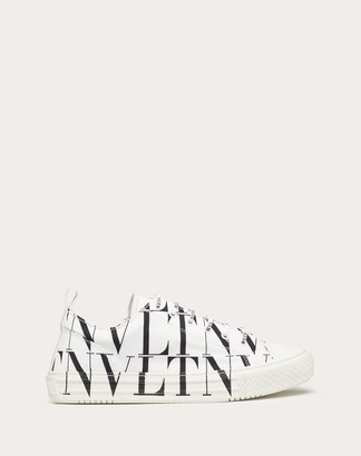 Valentino Garavani Uomo Vltn Times Giggies Low-top Fabric Sneaker Man White/ Black Cotton 100% 39