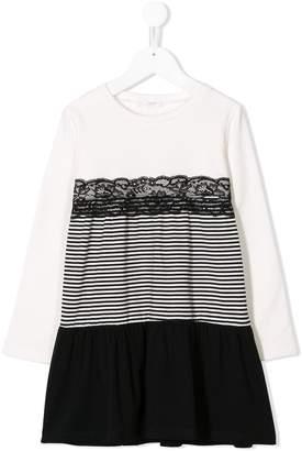 Liu Jo Kids striped panel sweater dress