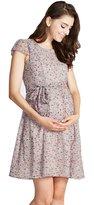 Sweet Mommy Maternity and Nursing Mini Floral Print Chiffon Dress BKM