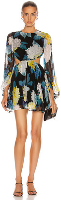 Alice McCall Wild Frontiers Mini Dress in Black | FWRD