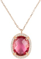 Latelita Beatrice Necklace Rose Gold Pink Tourmaline