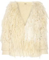 ADAM by Adam Lippes Fringed Wool And Cashmere-Blend Cardigan